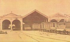 La primitiva Estación de Atocha ( Estación del Mediodía ). Vista posterior del…
