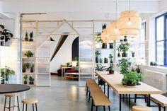 A Look Inside IKEA's Space 10 Innovation Lab in Copenhagen: IKEA explores the future of urban living. Cafe Interior, Office Interior Design, Office Interiors, Office Space Design, Comedor Office, Green Design, Design Ikea, Ikea New, Interior Design Offices