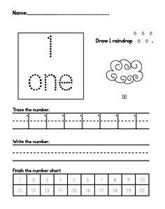 One, Two, Three: Math Time!: Kindergarten: Writing Numbers to 20