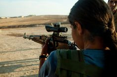 """""""It's something unique. It's a unique experience to fight against Islamic groups for the freedom of women worldwide."""" ~ Nojin, Kurdish combatant 