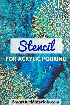 Using Stencil for Acrylic Pouring is an easy, effective, and beautiful way to enhance the Pour Artwork. Check out 2 ways to use it + step-by-step DIY stencil from Smart Art Materials with Love<br> Acrylic Painting Tips, Flow Painting, Acrylic Painting For Beginners, Stencil Painting, Acrylic Art, Abstract Art Paintings, Paint Stencils, Abstract Portrait, Portrait Paintings