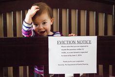 Pregnancy announcement...cute for the future.