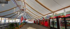 The inside scoop at Hornblower Niagara - the streetview google tour! We built this Savannah Series Tent for all of the cruise-goers to wait under when the mists are up.