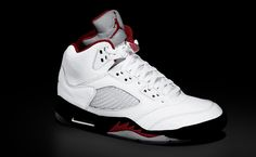 Air Jordan 5 White/Black-Fire Red - In my opinion, one of the very best ever.