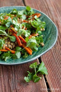 Paahdettu porkkana-linssisalaatti | chocochili.net