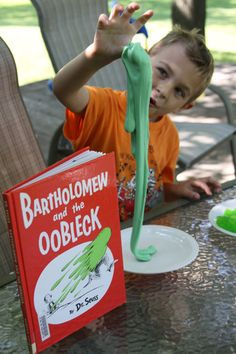 Make and play with your own Oobleck (Dr. Seuss' Bartholomew and the Oobleck Story)