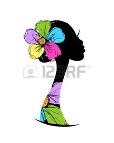 Illustration of Female head silhouette for your design vector art, clipart and stock vectors. Fabric Painting, Painting & Drawing, Art Sketches, Art Drawings, Afrique Art, African Quilts, African Art Paintings, Black Art Pictures, Art Africain