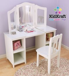 Attirant KidKraft 13018 Deluxe Vanity U0026 Chair   KidKraft 13018 Deluxe Vanity U0026 Chair  Every Young Girl Needs Her Very Own Vanity. The KidKraft 13018 Deluxe Vanity  ...
