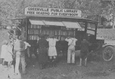 Pathfinder, Greenville (S.C.) Public Library, 1920s, was the first bookmobile to run south of Maryland.