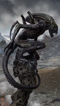 Awesome Art We've Found Around The Net: Alien, Doctor Who, Pulp Fiction - 天文学 & エイリアン 2020 Alien Vs Predator, Predator Alien, Predator Movie, Adidas Predator, Les Aliens, Aliens Movie, Alien Creatures, Fantasy Creatures, Pulp Fiction