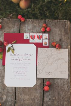 apple orchard wedding invitations // photo by Nessa K, styling by Sarah Park Events // http://ruffledblog.com/apple-orchard-wedding-inspiration