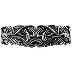 Art Nouveau Swirl Barrette 80mm  Oberon lead free Britannia pewter hairclips are hand cast in their shop. Oberon uses the highest quality steel clips, imported from France. French clips are considered superior in quality than others made domestically or in Asia. They are stronger and better constructed, never pulling or tangling your hair.