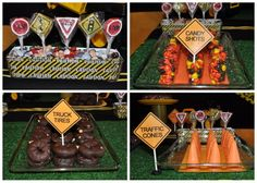 construction site baby shower dessert ideas