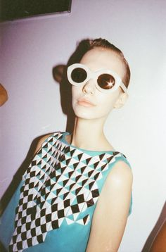 Our new Cutler and Gross X #HollyFulton frames premiered at #LondonFashionWeek on Saturday. We love this #behindthescenes snap our the Pink Opal model about to hit the Spring Summer 2015 runway Read a full review of the show on our blog: http://9nl.pw/hf1  #LFW #London #FashionWeek #LondonFashionWeek #HollyFulton #Studio_Fulton #SS15 #SpringSummer2015 #Womenswear