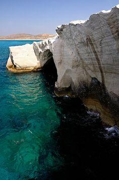#Sarakiniko, amazing #beach in Greece. #Aegean sea