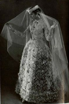 1956 Jacques Fath wedding dress