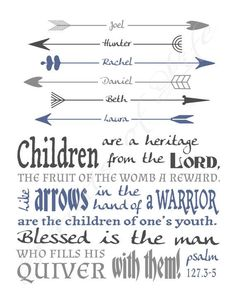 arrows for kids tattoo children are like arrows bible verse - Google Search