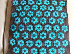 kussen haken - Google zoeken Crochet Flowers, Blanket, Knitting, How To Make, Google, Search, Tricot, Crocheted Flowers, Breien