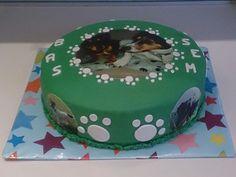 Honden foto taart; dog picture cake
