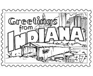 USA-Printables: State of Indiana Coloring Pages - Indiana tradition and culture coloring pages