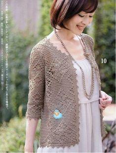 Irene - floral lace yoke cardi