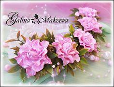 Гибкий ободок РОЗИ из фоамирана goma#EVA#flower