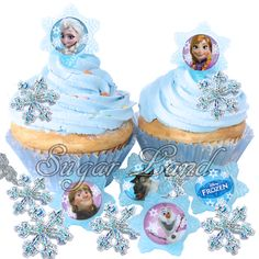 princess anna inspired cupcake cake | ... Cupcake Rings. Use them as part of your cake or cupcake decoration or