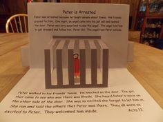 Peter Lesson Plans with a pop up book Bible Story Crafts, Bible School Crafts, Bible Crafts For Kids, Bible Study For Kids, Bible Lessons For Kids, Sunday School Projects, Sunday School Activities, Bible Activities, Sunday School Lessons