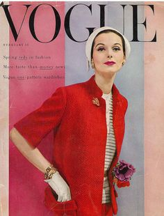 February 1955    Anne's set, cover by Erwin Blumenfeld.