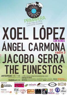 ¡SORTEO DE ENTRADAS! Concierto de: Xoel López + Jacobo Serra + The Funestos + Ángel Carmona   El Mundo de Tulsa