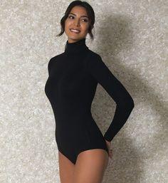 black long sleeve bodysuit women - Google Search