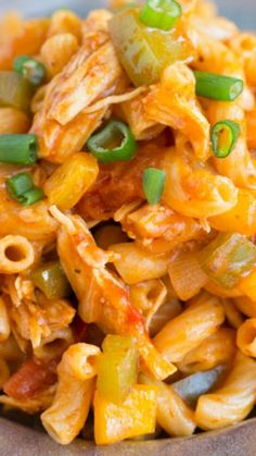 One-Pot Fiesta Chicken Pasta ~ All you need is one pot to make this easy weeknight pasta dish!