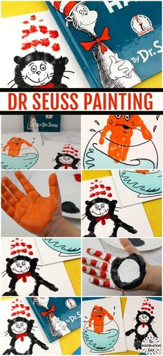 We really do love Dr Seuss and I've had a whole array of fun Dr Seuss Craft ideas here on The Inspiration Edit. Check out this Cat In The Hat handprint canvas #CatInTheHat #DrSeuss #kidsactivities #DrSeussActivities #literacy #preK #readwithkids #handprint #artsandcrafts #storytelling #storytime #DrSeuss #Readingresources #artykids