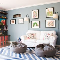 colorful playroom decor | craft and toy room | pinterest