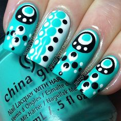 Polka Dots are so much fun so we decided to find 34 of the Best Polka Dot Nail Designs we could find. Below you will see a vast variety of colors and designs that keep us inspired. All with a hint of polka dots. Dot Nail Designs, Fingernail Designs, Sassy Nails, Funky Nails, Get Nails, Love Nails, Pretty Nails, Nailart, Polka Dot Nails