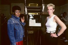 Aretha Franklin and Annie Lennox Detroit, 1985