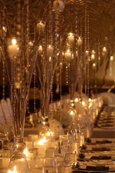 twig crystal tablescape