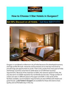 Looking for 3 Star Hotels in Gurgaon? Book best & reasonable price 3 star hotels in Gurgaon from wowhotelz.com