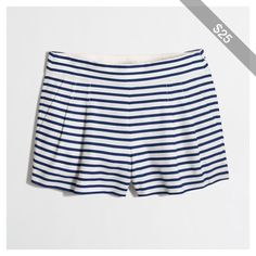 J.Crew Factory pleated striped short