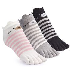 Full Toe Socks,Cotton Ankle No Show Low Cut Five Finger Socks for Women with 3 Pairs. Material: 75% Cotton 20% Polyester 5% Spandex.Soft full toe socks offer a secure and comfortable experience. Size: One size fits most (Women's shoe size 4-8).Easy to care for-Recommended hand wash in cold water.Dry flat,do not iron. Functional: Toe socks can help prevent those pesky blisters from forming in between your toes. And reduce friction from your toes rubbing against each other, and your toes...