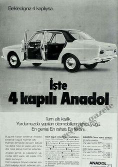 Beklediğiniz 4 kapılıysa..İşte 4 kapılı Anadol 1974