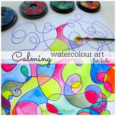 Super fun (and calming) watercolor process art project with low-prep and heaps of open-ended possibilities.