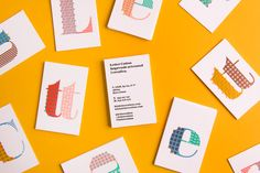 Letter Cotton Identity by Studio Cocolia Business Card Design Inspiration, Typography Inspiration, Business Design, Visual Identity, Brand Identity, Corporate Identity, Behance, Intelligent Design, Name Cards