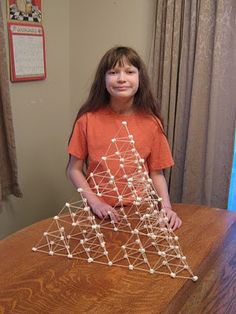 Almost Unschoolers: Building a Bigger Pyramid - Marshmallow and Toothpick