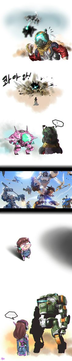 Когда ждёш вызова Титана... overwatch, Titanfall 2, crossover, dva, Игры, длиннопост