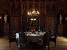The dining room at Lyndhurst Mansion NY.
