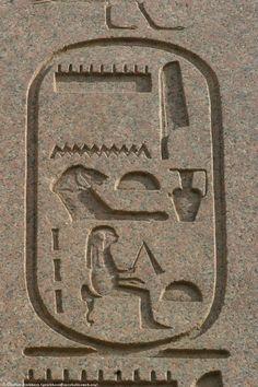 Hatschepsut Cartouche, a photo from Luxor, Inland Ancient Egypt Hieroglyphics, Kemet Egypt, Egyptian Symbols, Ancient Egyptian Art, Ancient Aliens, Ancient Civilizations, Ancient History, Ancient Symbols, Architecture Antique