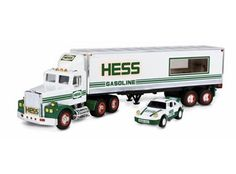 1992 Hess Toy Hauler Track Trailer 18 Wheeler Racer MINT IN BOX