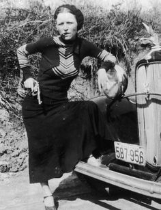 Bonnie Parker, six days before turning 16, young Bonnie married high school classmate Roy Thornton, The marriage disintegrated within months, and Bonnie never again saw her husband after he was imprisoned for robbery in 1929. Soon after, Bonnie met Clyde, and although the pair fell in love, she never divorced Thornton. On the day Bonnie and Clyde were killed in 1934, she was still wearing Thornton's wedding ring.