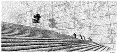 Fingerprint - Stairway.  Black ink drawing. By Nicolas Jolly. #art #drawing #ink